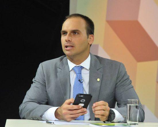 El diputado Eduardo Bolsonaro, hijo del presidente de ultraderecha Jair Bolsonaro.