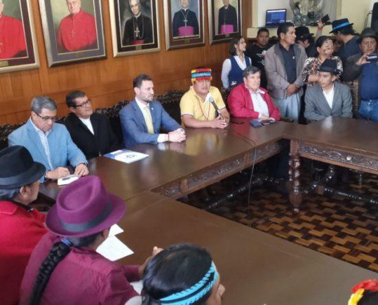 La Conaie y el Parlamento Popular entregaron su propuesta económica al Gobierno, el 31 de octubre de 2019.